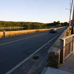 A bridge over the channel separating Goose Cove and Annisquam Harbor in Gloucester, Massachusetts.