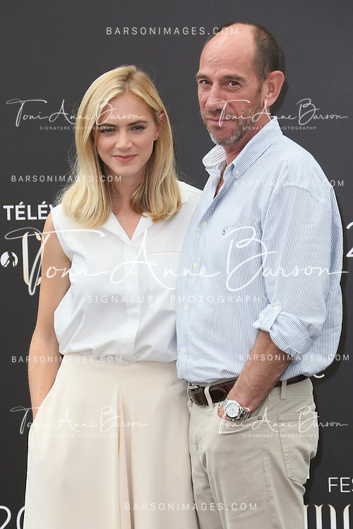 "MONTE-CARLO, MONACO - JUNE 10:  Miguel Ferrer and Emily Wickersham attend ""NCIS"" Photocall at the Grimaldi Forum on June 10, 2014 in Monte-Carlo, Monaco.  (Photo by Tony Barson/FilmMagic)"