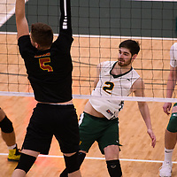 Cougars Volleyball in action during the Women's Volleyball Home Game vs U of C Dinos on October21 at the CKHS University of Regina. Credit Arthur Ward/©Arthur Images 2017