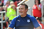 Tranmere Rovers manager Micky Mellon  during the EFL Sky Bet League 1 match between Rotherham United and Tranmere Rovers at the AESSEAL New York Stadium, Rotherham, England on 31 August 2019.