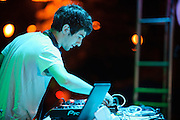 EDM producer Mat Zo performing at the first annual Pulse Festival in St. Louis on June 9, 2012.