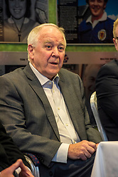 Pictured: Craig Brown<br /> Veteran commentator Archie MacPherson was at Hampden Park today as he announced the publication of his latest book:  Adventures in the Golden Age - Scotland in the World Cup Finals 1974-1998, due to be published on 26 April  MacPherson was joined by former and  current Scotland manager Craig Brown and Alex McLeish respectivly  along with ex-Celtic, Arsenal and Scotland player Charlie Nicholas who was Archie's co-commentator at the Mexico World Cup. <br /> <br /> Ger Harley | EEm 25 April 2018