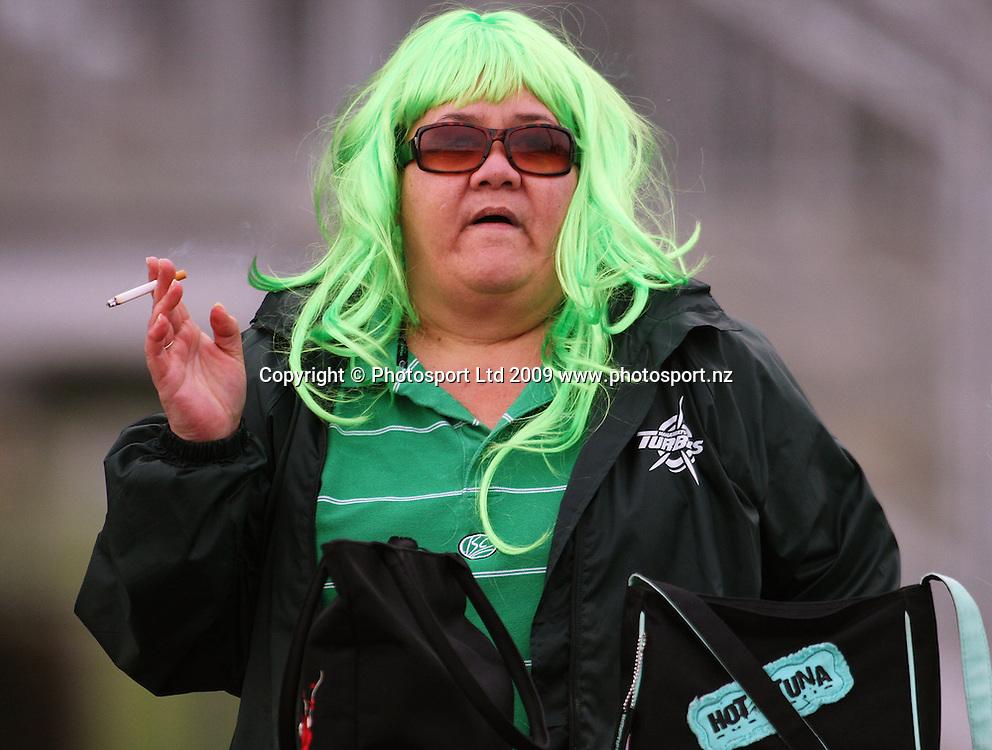 A Manawatu fan.<br /> Air NZ Cup preseason - Manawatu Turbos v Wellington Lions at FMG Stadium, Palmerston North, New Zealand, Friday 17 July 2009. Photo: Dave Lintott/PHOTOSPORT