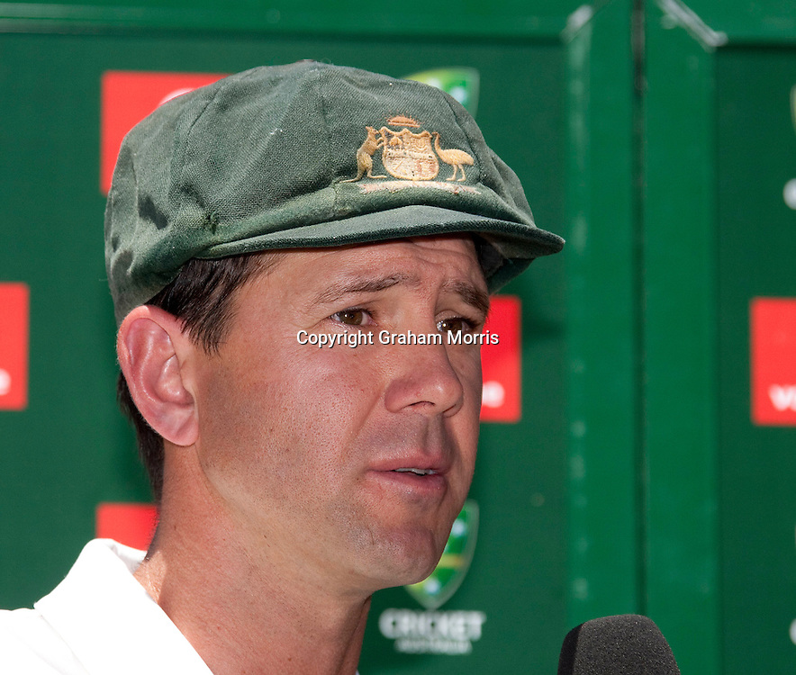 Captain Ricky Ponting after losing the fourth Ashes test match between Australia and England at the MCG in Melbourne, Australia and failing to regain The Ashes. Photo: Graham Morris (Tel: +44(0)20 8969 4192 Email: sales@cricketpix.com) 29/12/10