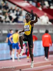 2019 IAAF World Athletics Championships held in Doha, Qatar from September 27- October 6<br /> Day 2<br /> mens long jump winner Jamaica