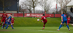 LIVERPOOL, ENGLAND - Monday, February 24, 2020: Liverpool's Joe Hardy scores the third goal during the Premier League Cup Group F match between Liverpool FC Under-23's and AFC Sunderland Under-23's at the Liverpool Academy. (Pic by David Rawcliffe/Propaganda)