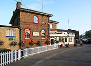 Exterior of railway train station building, Woodbridge, Suffolk, England, UK