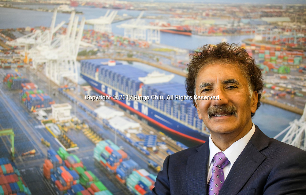Mario Cordero, executive director of Port of Long Beach. (Photo by Ringo Chiu)<br /> <br /> Usage Notes: This content is intended for editorial use only. For other uses, additional clearances may be required.