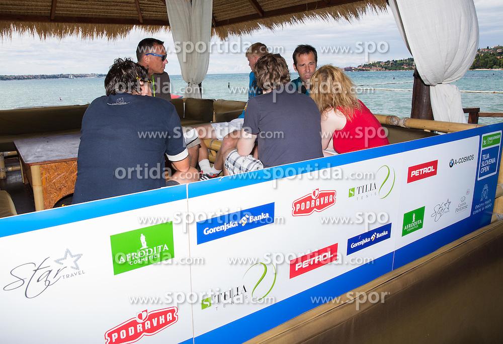 Greg Rusedski of Great Britain during Day 3 of ATP Challenger Tilia Slovenia Open 2014 on July 9, 2014 in  Tennis stadium SRC Marina, Portoroz / Portorose, Slovenia. Photo by Vid Ponikvar / Sportida