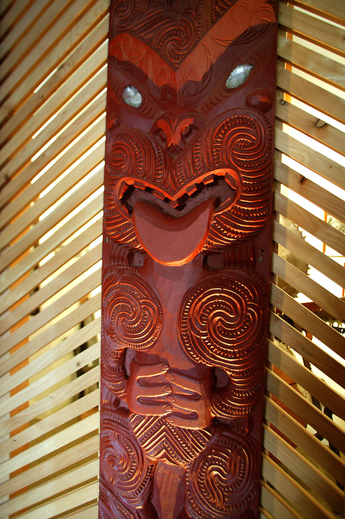 A carved panel on display in the Taupo Museum, New Zealand, October 01, 2004. Credit:SNPA / Rob Tucker