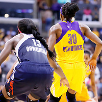 03 August 2014: Connecticut Sun forward Chiney Ogwumike (13) is seen next to Los Angeles Sparks forward Nneka Ogwumike (30) during the Los Angeles Sparks 70-69 victory over the Connecticut Sun, at the Staples Center, Los Angeles, California, USA.