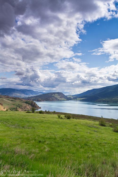 View of Kalamalka Lake from Kekuli Bay Provincial Park near Vernon, British Columbia, Canada