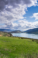 View of Kalamalka Lake from Kekuli Bay Provincial Park near Vernon, British Columbia, Canada