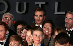 Chris Pine (centre) at the Scottish premiere of Outlaw King at the Vue Omni in Edinburgh.