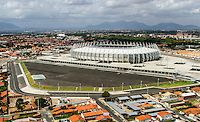 """Football Fifa World Cup Brazil 2014 / <br /> Arena Castelao Stadium - Fortaleza, Ceara_Brazil - <br /> Panoramic View of  """" ARENA CASTELAO - FORTALEZA , CEARA-BRAZIL """" , <br /> Ready for the next FIFA World Cup Brazil 2014 , and able to accommodate a capacity of 64,846 Spectators"""