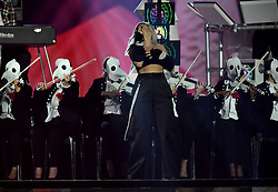 Anne Marie on stage during the MTV Europe Music Awards 2017 held at The SSE Arena, London. Photo credit should read: Doug Peters/EMPICS Entertainment