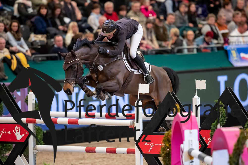 ECKERMANN Katrin (GER), F.C. Okarla<br /> Leipzig - Partner Pferd 2019<br /> IDEE Kaffe Preis<br /> CSI5*<br /> 18. Januar 2019<br /> © www.sportfotos-lafrentz.de/Stefan Lafrentz