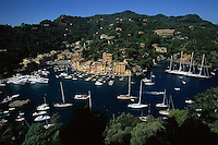2000, Portofino, Italy --- Boats in Harbor of Portofino --- Image by © Owen Franken