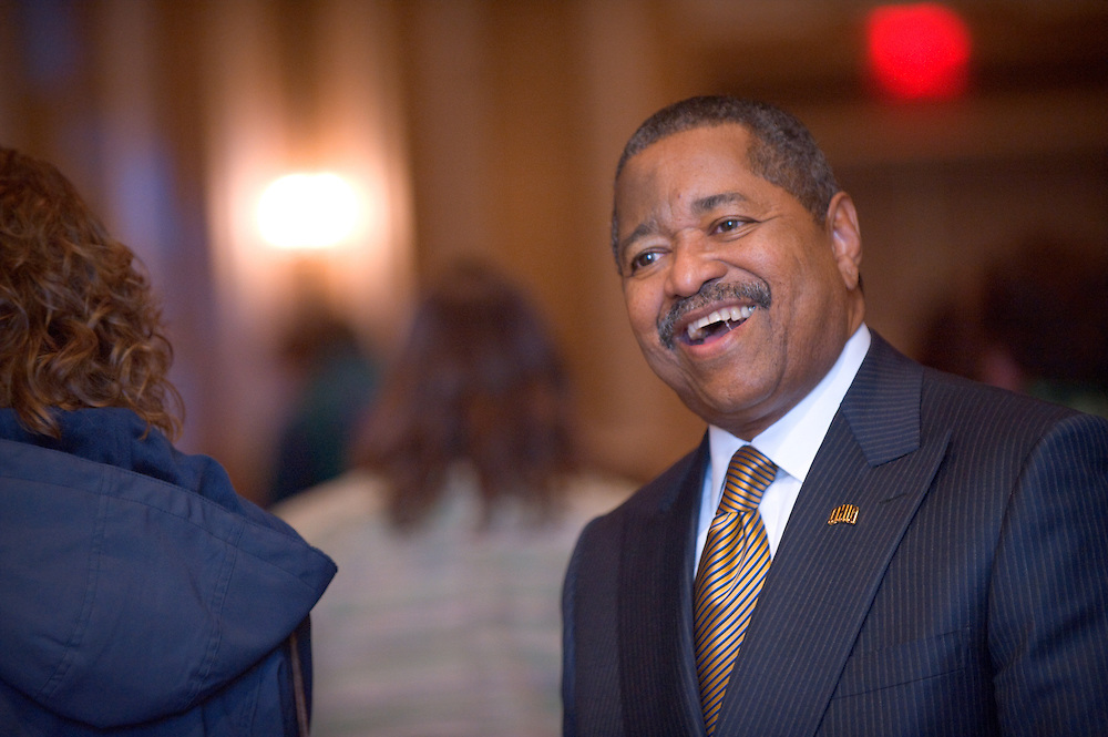 President Roderick J. and First Lady Deborah McDavis hosted a Holiday Appreciation Reception for faculty and staff on Tuesday, Nov. 25, in the Baker University Center Ballroom