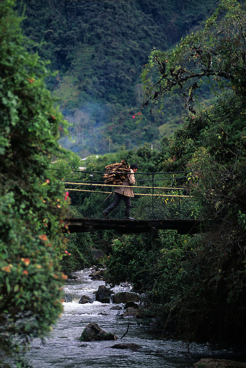 Bridge crossing in Ecuador.