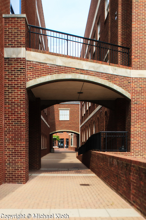A passage way on the University of Kentucky campus.