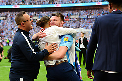 Free to use courtesy of Sky Bet. Chris Stokes of Coventry City celebrates winning the Sky Bet League Two - Mandatory by-line: Dougie Allward/JMP - 28/05/2018 - FOOTBALL - Wembley Stadium - London, England - Coventry City v Exeter City - Sky Bet League Two Play-off Final