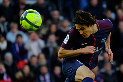 February 17, 2018 - Paris, France - Paris SG Striker CAVANI EDINSON in action during the League 1 French championship match Paris SG against Strasbourg RC at the Parc des Princes Stadium in Paris - France..Paris SG won 5-2 (Credit Image: © Pierre Stevenin via ZUMA Wire)