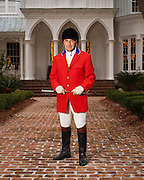 Sandy Termotto, dentist and equestrian enthusiast, photographed at Rose Hill Plantation, South Carolina.