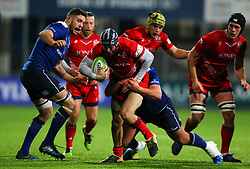 Ryan Edwards of Bristol United is tackled by Peter Dooley of Leinster - Mandatory by-line: Ken Sutton/JMP - 15/12/2017 - RUGBY - Donnybrook Stadium - Dublin,  - Leinster 'A' v Bristol United -