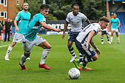 Forest Green Rovers Liam Shephard(2) runs forward during the EFL Sky Bet League 2 match between Bury and Forest Green Rovers at the JD Stadium, Bury, England on 18 August 2018.