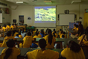 "Discovery Channel visited Sanchez Elementary for the screening of ""The Making of North America""."