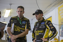 June 1, 2018 - Long Pond, Pennsylvania, United States of America - Matt Kenseth (6) hangs out in the garage during practice for the Pocono 400 at Pocono Raceway in Long Pond, Pennsylvania. (Credit Image: © Justin R. Noe Asp Inc/ASP via ZUMA Wire)