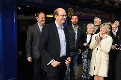 © Licensed to London News Pictures. 11/10/2014<br />    Rochester,Kent. UKIP shop 30 Rochester High Street UKIP MP Douglas Carswell and Mark Reckless walking outside.<br /> UKIP Leader Nigel Farage  in Rochester today (11.10.2014)with Mark Reckless and new UKIP MP for Clacton Carswell.<br /> (Byline:Grant Falvey/LNP)