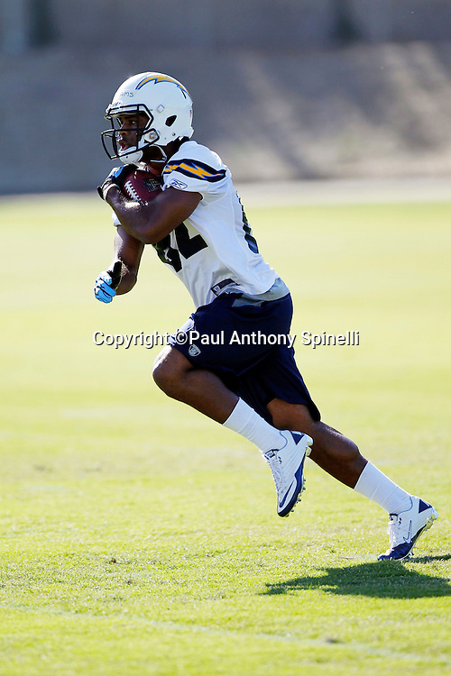 San Diego Chargers rookie wide receiver Jeremy Williams (82) runs with the ball after catching a pass during a Chargers rookie minicamp on May 7, 2010 in San Diego, California. (©Paul Anthony Spinelli)