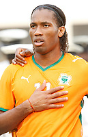 Photo: Steve Bond/Richard Lane Photography.<br />Nigeria v Ivory Coast. Africa Cup of Nations. 21/01/2008. Didier Drogba lines up for Ivory Coast