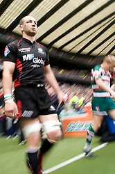 Saracens Lock Steve Borthwick walks out before the Guinness Premiership final 2010 between Leicester Tigers and Saracens at Twickenham Stadium, London, England. May 29th, 2010. .