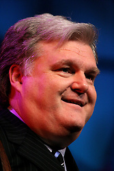 March 12th, 2006. New Orleans, Louisiana. <br /> Legendary Blue Grass musician Ricky Skaggs plays to the crowd before the Rev Billy Graham takes the stage. Claiming this to be his last event preaching from the pulpit, the world's most famous evangelist, The Reverend Billy Graham later addressed a capacity crowd at the New Orleans Arena as he brings his 'Celebration of Hope' weekend event to an end.<br /> Photo©; Charlie Varley/varleypix.com