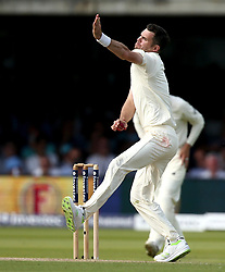 James Anderson of England bowls to the South African batsman - Mandatory by-line: Robbie Stephenson/JMP - 07/07/2017 - CRICKET - Lords - London, United Kingdom - England v South Africa - Investec Test Series