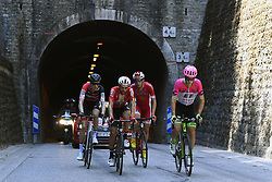 July 20, 2018 - Valence, France - VALENCE, FRANCE - JULY 20 : SCHAR Michael (SUI) of BMC Racing Team, DE GENDT Thomas (BEL) of Lotto Soudal, CLAEYS Dimitri (BEL) of Cofidis, Solutions Credits, SCULLY Tom (NZL) of Team EF Education First - Drapac p/b Cannondale during stage 13 of the 105th edition of the 2018 Tour de France cycling race, a stage of 169.5 kms between Bourg d'Oisans and Valence on July 20, 2018 in Valence, France, 20/07/2018 (Credit Image: © Panoramic via ZUMA Press)