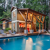 Residence Pool House At Dawn - Dunwoody, GA