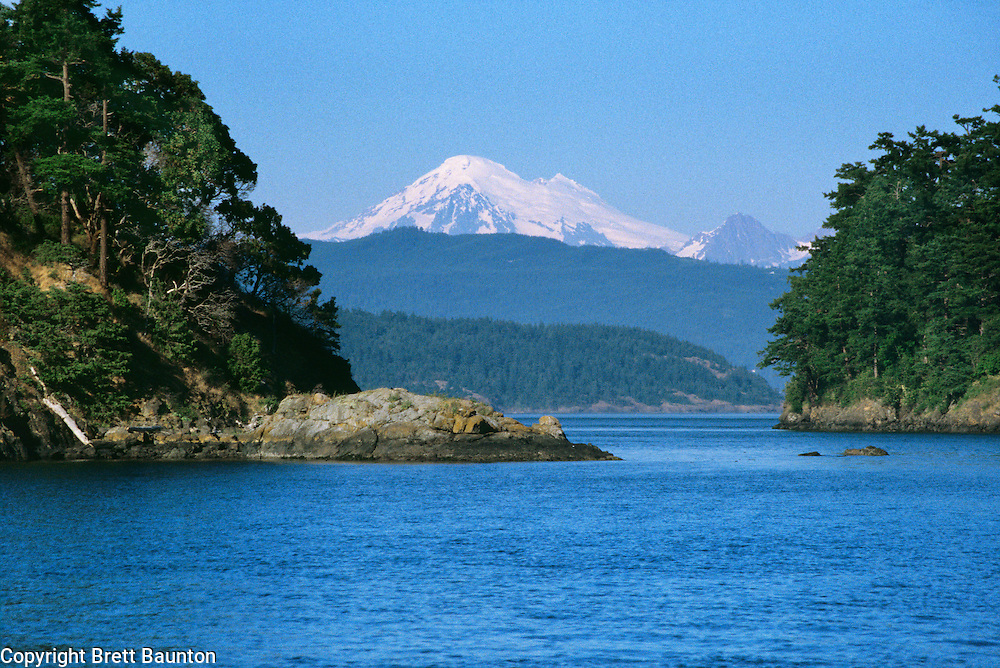Mt. Baker from Stuart Island, San Juan Islands, Washington