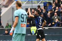 esultanza gol Roberto Gagliardini Inter. Goal celebration <br /> Milano 03-11-2018 Stadio San Siro Football Calcio Serie A 2018/2019 FC Internazionale - Genoa Foto Matteo Gribaudi / Image Sport / Insidefoto