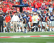 Ole Miss' Randall Mackey (1) vs. Auburn at Vaught-Hemingway Stadium in Oxford, Miss. on Saturday, October 13, 2012. (AP Photo/Oxford Eagle, Bruce Newman)..