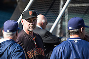 Bruce Bochy prior to MLB game between the San Francisco Giants and the San Diego Padres, at AT&amp;T Park in San Francisco, CA.<br /> The Giants won 6-0 in 9 innings.<br /> Credit : Glenn Gervot