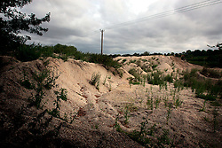 UK ENGLAND HAMPSHIRE ST MARY BOURNE 12AUG06 - Gravel pit near the Vitacress production and packaging facility near St. Mary Bourne, Hampshire. Local residents accuse the company's controversial practices of applying nutrients and salad washing to have caused environmental damage in the Bourne valley...jre/Photo by Jiri Rezac..© Jiri Rezac 2006..Contact: +44 (0) 7050 110 417.Mobile:  +44 (0) 7801 337 683.Office:  +44 (0) 20 8968 9635..Email:   jiri@jirirezac.com.Web:    www.jirirezac.com..© All images Jiri Rezac 2006 - All rights reserved.