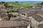 Rooftops of St Emilion from L'Eglise Monolithe in the Bordeaux region of France