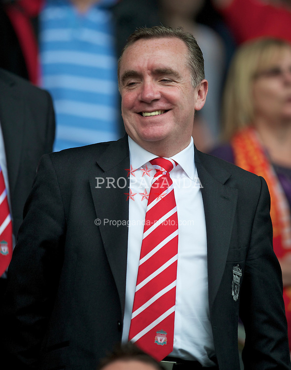 LIVERPOOL, ENGLAND - Saturday, April 23, 2011: Liverpool's Managing Director Ian Ayre before his side's Premiership match against Birmingham City at Anfield. (Photo by David Rawcliffe/Propaganda)