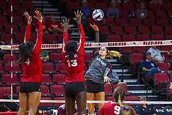 BLOOMINGTON, IL - September 28: Alayna Martin during a college Women's volleyball match between the ISU Redbirds and the Southern Illinois Salukis on September 28 2019 at Illinois State University in Normal, IL. (Photo by Alan Look)