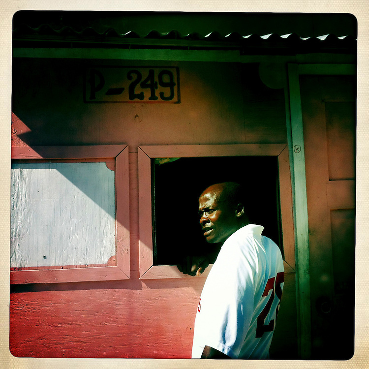 Louisno Clotaire at the Corail camp on Friday, April 6, 2012 in Port-au-Prince, Haiti.