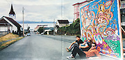"""Hey Lover """"Sinking Ships"""" album gatefold, shot in Astoria, OR. Art by Pat Moriarty"""